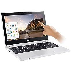 "2017 Newest Acer Premium R11 11.6"" Convertible 2-in-1 Hd Ips Touchscreen Chromebook - Intel Quad-core Celeron N3160 1.6ghz, 4gb Ram, 32gb Emmc, Bluetooth, Hd Webcam, Hdmi, Usb 3.0, Chrome Os - White"