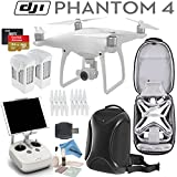 DJI Phantom 4 Quadcopter w/ eDigitalUSA Pro Bundle: Includes 2 Intelligent Flight Batteries, SanDisk 64GB Extreme MicroSD Card, DJI Professional Backpack and more...
