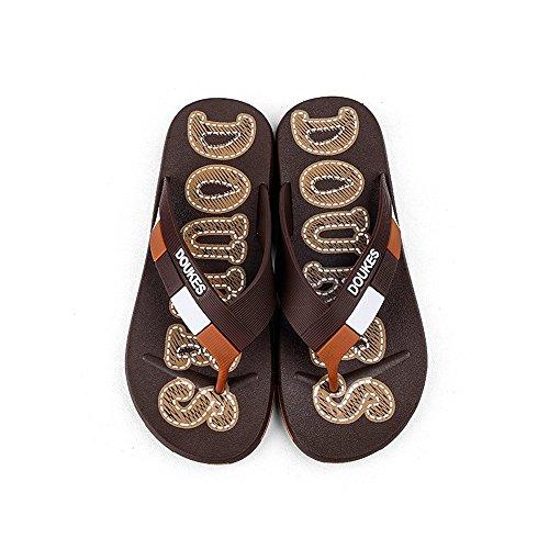 infradito uomo da EU Pantofola Marrone da Fangs Color Monogram spiaggia Scarpe da uomo modello classico modello sandali 2018 Marrone 42 Dimensione twqHnIx4P1