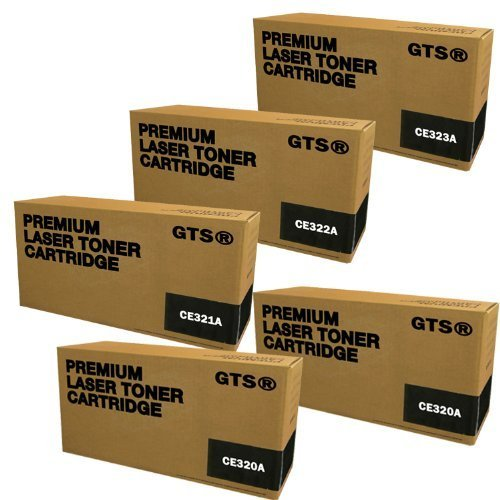 GTS � 5 Pack Compatible Replacement Toner Cartridges for HP CE320A, CE321A, CE322A, CE323A (HP 128A)