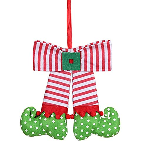Pendant & Drop Ornaments - Christmas Cloth Art Decoration Lovely Bowknot Tree Doll Hanging Ornament - Tree Santa Drop Christmas Lady Decor Crown Decor Decor Christmas Christmas Ornaments D