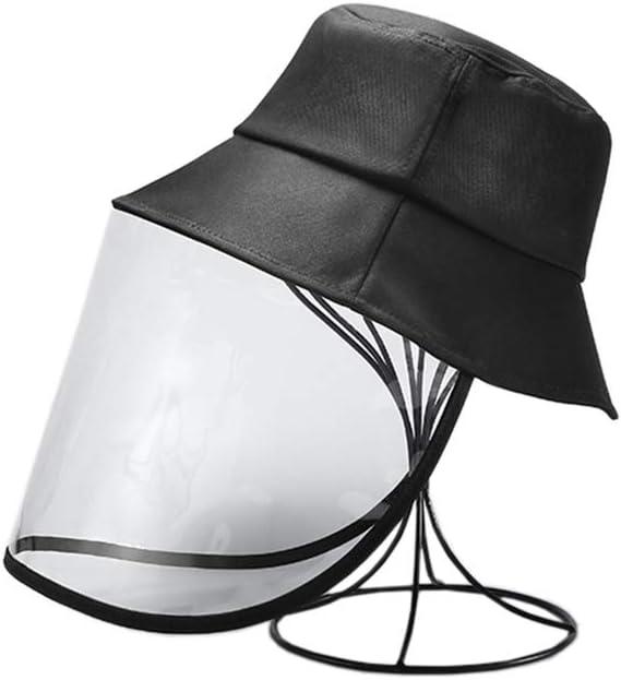 SDBRKYH Anti-Saliva Sombrero Protector, Anti Saliva Máscara de Splash Cubierta al Aire Libre del Sol del Sombrero a Prueba de Polvo Blanco Cara de Cubierta Uno,1