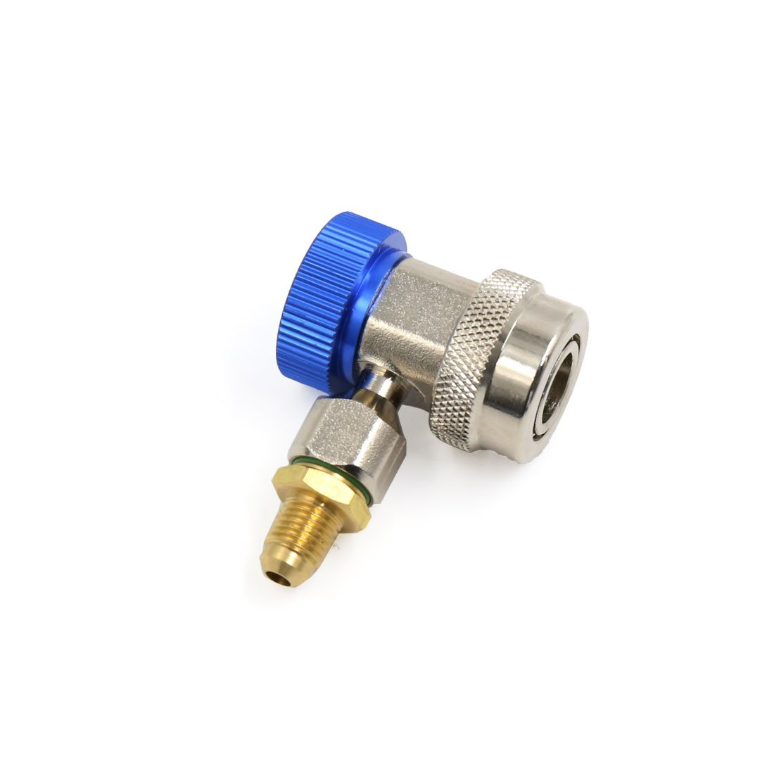 uxcell Blue Low Side Adjustable Air Conditioner Quick Coupler Connector Adapter for Car by uxcell (Image #2)