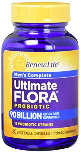 Renew Life - Ultimate Flora Probiotic Men's Complete - 90 billion - probiotics for men - daily digestive and immune health supplement - 30 vegetable capsules