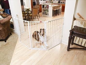 Flexi Gate Walk Through Gate With Pet Door   Model 1510PW   76W X 30.5