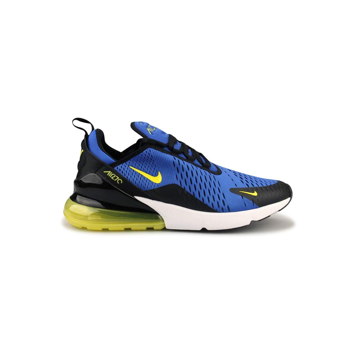 Nike Mens Air Max 270 Running Shoes (9.5 M US, Game RoyalDynamic Yellow)