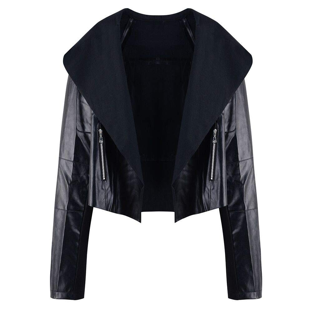 Women's Slim Short Jacket, Baigoods Casual Winter Autumn Zipper Lapel Top Blouse Outwear Patent Leather