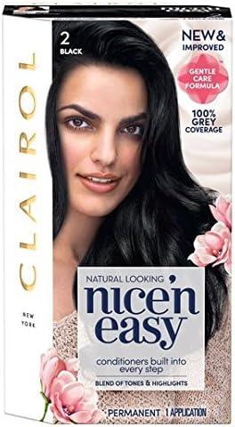 Nice N Easy Tinte de pelo natural negro 2: Amazon.es: Salud y ...