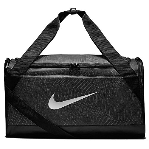 Nike Brsla Aop Sports Duffel Bag black/black/(white) C2ET5Sfjh