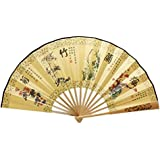 Oriental Style Folding Fan Hand Fan Handfan Handheld Fan Perfect Gift, I