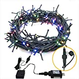 Dooit 200 LED 82FT Fairy String Lights, Connectable Christmas Lights with 8 Lighting Modes,Mini String Lights Plug in…