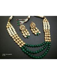 Imlistreet Women's Ethnic Kundan Bead Earring Bridal Party wear Traditional F...