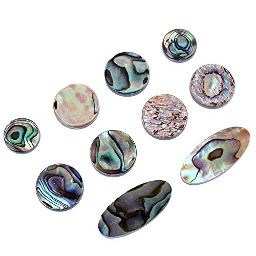 Abalone Dots Guitar Inlay Material Suitable For Decorate Guitars Ukuleles Banjos Mandolins (Green) by ZIJIA