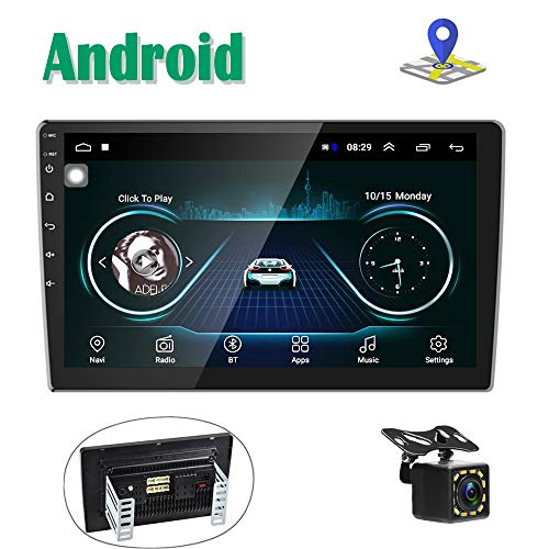 """Android Car Stereo GPS Navigation Radio Player Camecho 2 Din 10"""" Touch Screen Bluetooth WIFI FM Receiver Mobile Phone…"""