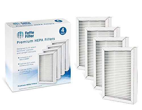 Fette Filter - HEPA Vacuum Filter Compatible with Kenmore Exhaust EF-2 (Compares to 86880) and Also Compatible with Panasonic (Compares to MC-V194H) (Pack of 4) (Hepa Media Filter 86880 Mc V194h 40320)