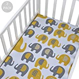 Crib Sheet Set - Toddler Sheet Set 2 Pack 100% Jersey Cotton - Unisex Jersey Knit Cotton Babies Sheets for Crib Reviews