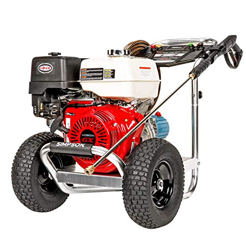 SIMPSON Cleaning ALH4240 Aluminum Series Gas Pressure Washer Powered by HONDA GX390, 4200 PSI at 4.0 GPM, (49 State…