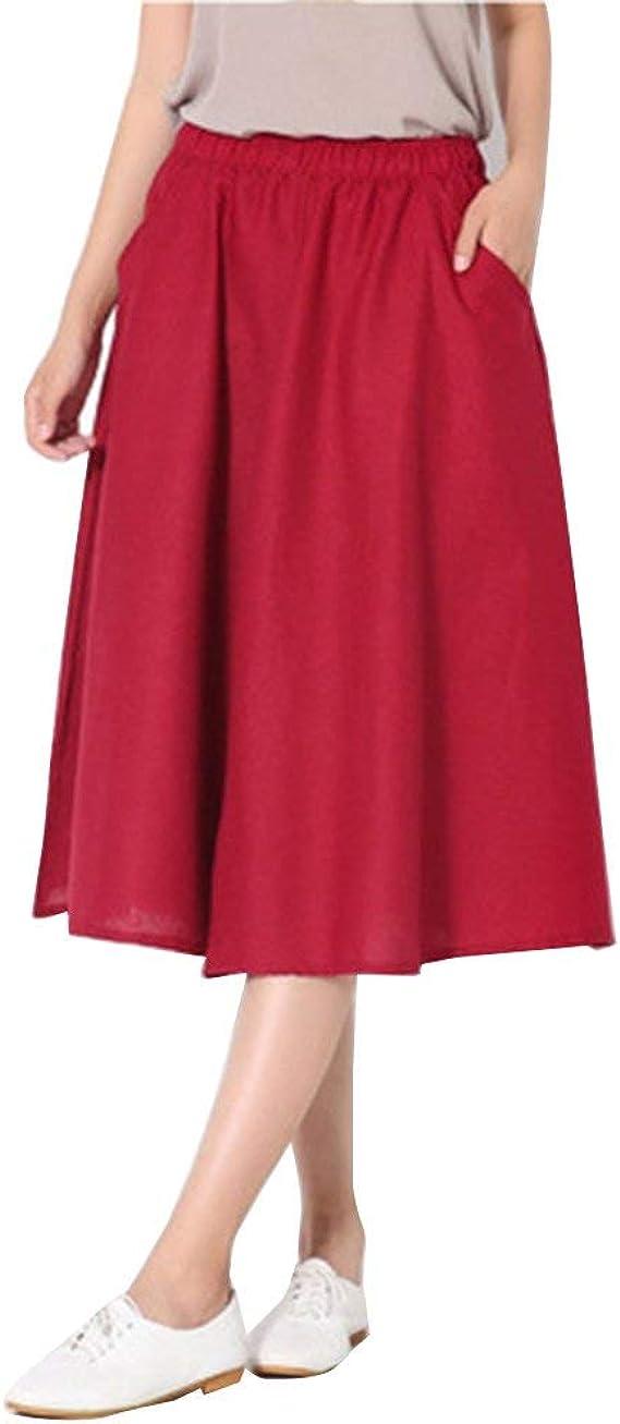 Pantalón Ancho para Mujer Palazzo Culotte Falda Capris Faldas De ...