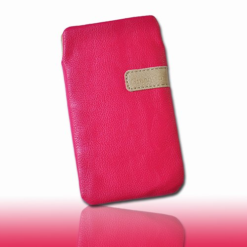 Handy Tasche Hülle Case Kunstleder pink M5-3 für Apple iPhone 5 / iPhone 5S / iPhone 5C / Samsung Galaxy ACE 3 S7270 - S7275 / Sony Xperia M / Blackberry Q5 / Vodafone Smart III / Smart 3 / Fairphone