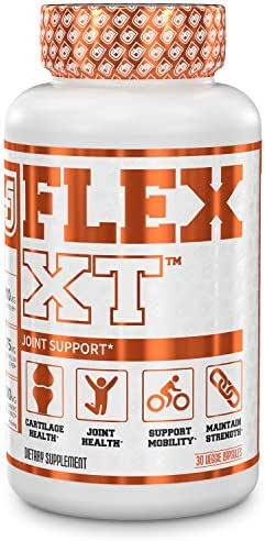 Flex-XT Joint Support Supplement | Joint Pain Relief, Bone Strength, Natural Anti Inflammatory Cartilage Repair for Men & Women | Turmeric Curcumin, Boswellia Super, More - 30 Veggie Pills