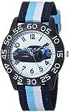 Disney Boy's 'Cars' Quartz Plastic and Nylon Casual Watch, Color:Blue (Model: WDS000437)