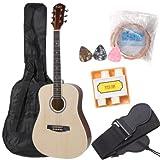 Kalos 38-Inch Acoustic Dreadnought Guitar Pack, Natural - DGP-38NW