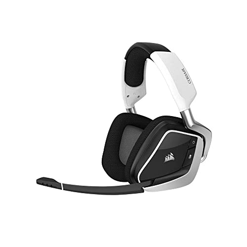 Corsair Void Pro RGB Wireless - Auriculares Gaming (PC, Inalámbricos, Dolby 7.1) Color Blanco