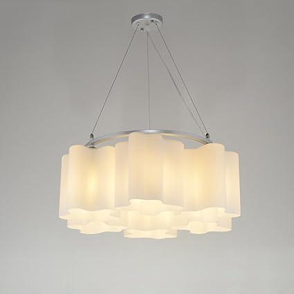 MEGSYL Lámpara de techo de vidrio clásico, lámparas ...