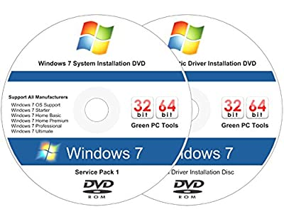 Windows 7 All-in-One All Versions 32/64-Bit Install, Reinstall, Restore Disc - 2018 Driver DVD Included! Support Support Basic Home Premium Pro and Ultimate