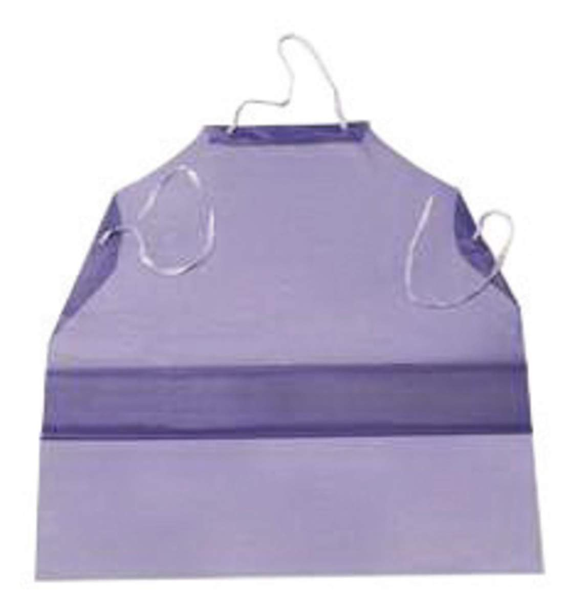 Ansell 33'' X 47'' Blue CPP CB Series 6 mil Vinyl Chemical Protection Apron With Raw Edge - Pack of 10 by ANSELL (Image #1)