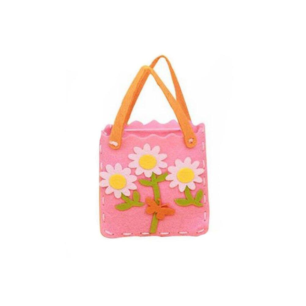 Girls Felt Craft Kits Sewing Hand Made Bag - Flowers B0749FMKP9