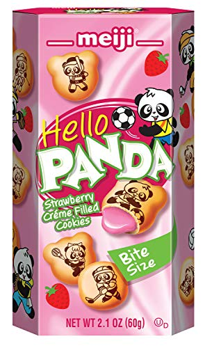 Meiji Hello Panda Cookie, Strawberry, 2.1 oz (Pack of 10)