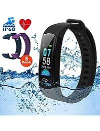 DETUOSI Fitness Tracker, Activity Tracker, Color Screen Smart Watch IP68 Waterproof Watch Smart Band for Kids Women Men