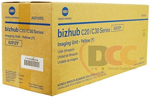 (Genuine Konica Minolta IU312Y Yellow Imaging Unit for Bizhub C20 C30P C31P)