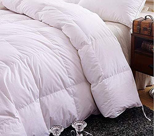 Topsleepy Luxurious Bedding Goose Down Filling Comforter, White (King(102x90inch))