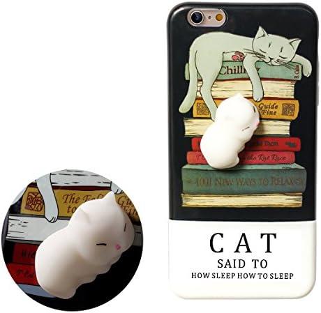 Haobuy Funda iPhone 6Plus/6sPlus, Cute Squishy 3D Gato Slow Rising Squeeze Cat TPU Carcasa Case Cover para Apple iPhone 6Plus/6sPlus 5.5inch [Negro Gato]: Amazon.es: Electrónica