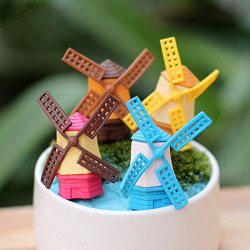 Mini Cute Windmill Micro Landscape Garden DIY Decoration