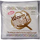 Warm Company Batting 90-Inch by 96-Inch Warm and White Cotton Batting, Full