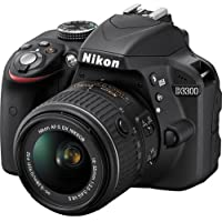 Nikon D3300 24.2 MP CMOS Digital SLR with Auto Focus-S DX NIKKOR 18-55mm f/3.5-5.6G VR II Zoom Lens (Black) - International Version (No Warranty)