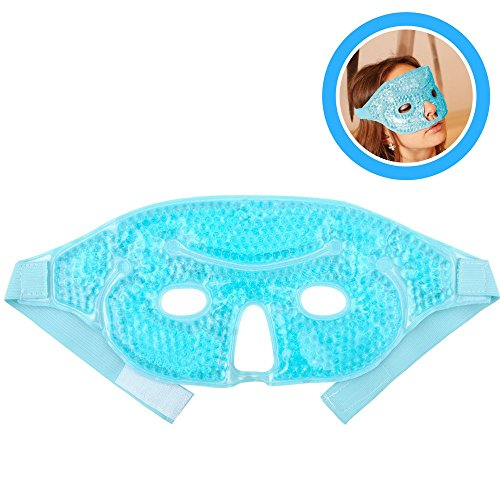 [FOMI Hot Cold Therapy Gel Bead Facial Eye Mask. Migraine / Headache Relief. Reduce Eye Puffiness and Dark Circles. Fabric Back for Ultimate Comfort, Dual Sided For Perfect] (Robber Adult Costumes)