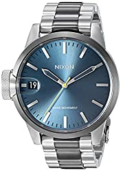 Nixon Men's 'Chronicle 44' Swiss Quartz Stainless Steel Watch, Color:Two Tone (Model: A4412304)
