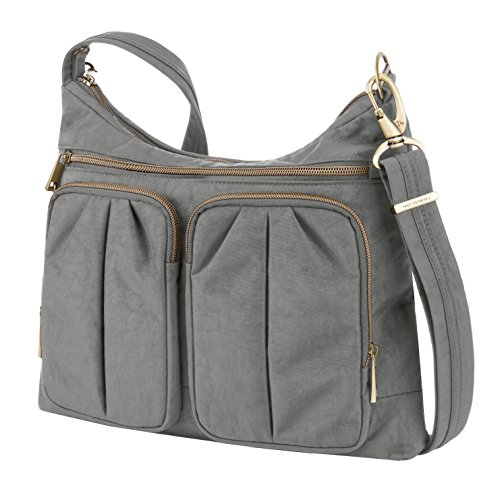 One Signature Anti Pewter Pewter Bag Pocket Travelon Twin Theft Size Hobo 8F7wFZq