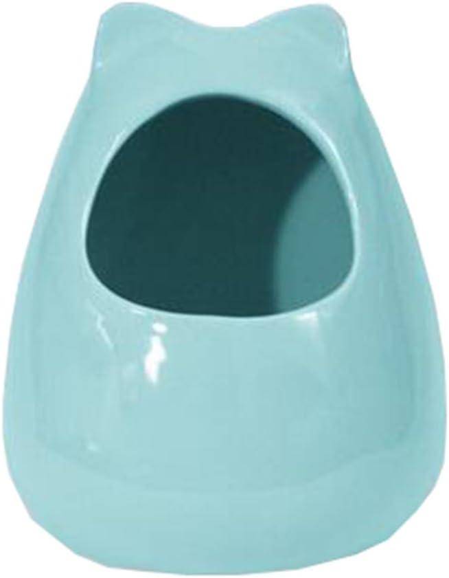 Blue Pet Supplies Small Animals Habitat Decor Hamster House//Little Chinchilla Habitat//Ceramic Cottage 18x22CM