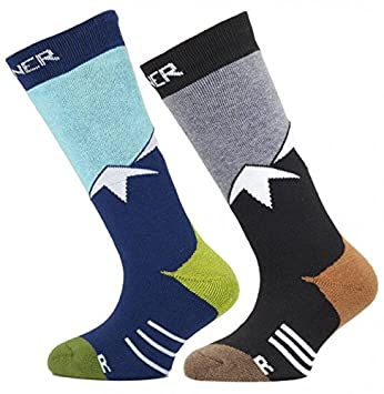 Sinner par de Calcetines, Color Blue/Grey Mountains, tamaño 31-34 (Talla del Fabricante: 31-34): Amazon.es: Deportes y aire libre