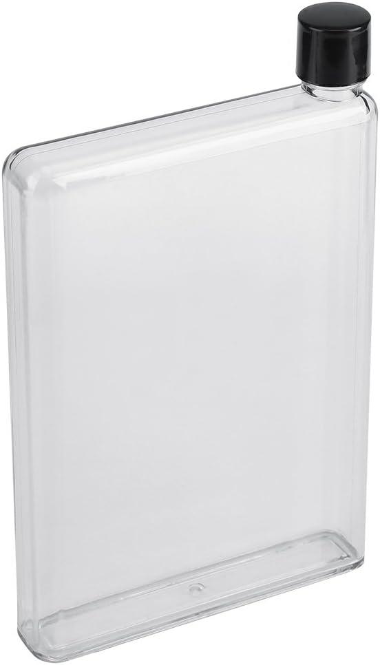 Tazze per succhi portatili trasparenti in plastica bianca Bottiglie per acqua piatte sottili a prova di perdite da 750 ml Tazze per succhi portatili trasparenti in plastica