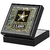 CafePress - Army Strong - Keepsake Box, Finished Hardwood Jewelry Box, Velvet Lined Memento Box