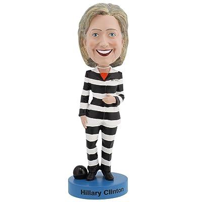 Hillary Clinton Striped Prison Pantsuit Bobblehead: Toys & Games
