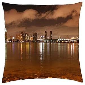 San Diego tarde Skyline–Funda de almohada manta (18
