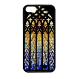 Generic Custom Extraordinary Best Design Colorful Stained Glass Plastic and TPU Black and White Case Cover for iPhone5 iPhone5S
