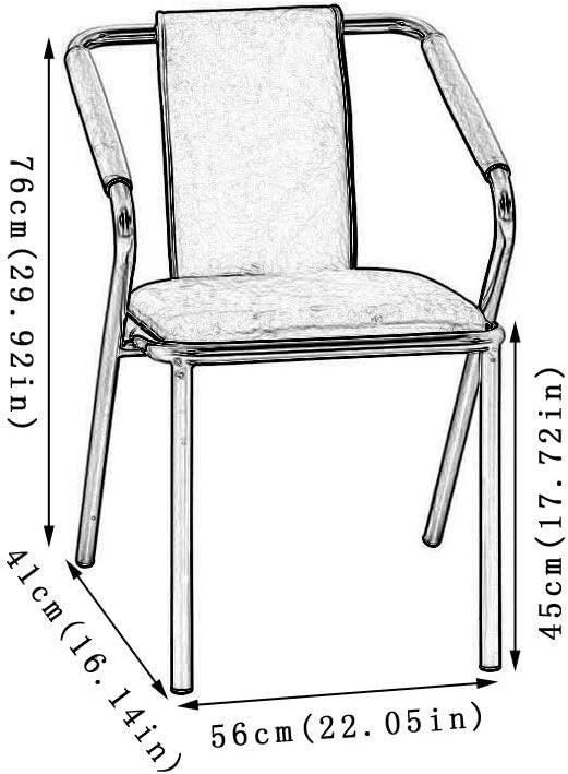 FDN Cocina Sillas de Comedor,Cocina Oficina Comedor Mostrador Ocio Cafe Americana Silla de La Sala de Estar Sillas de Comedor (Color : White) Pu-white